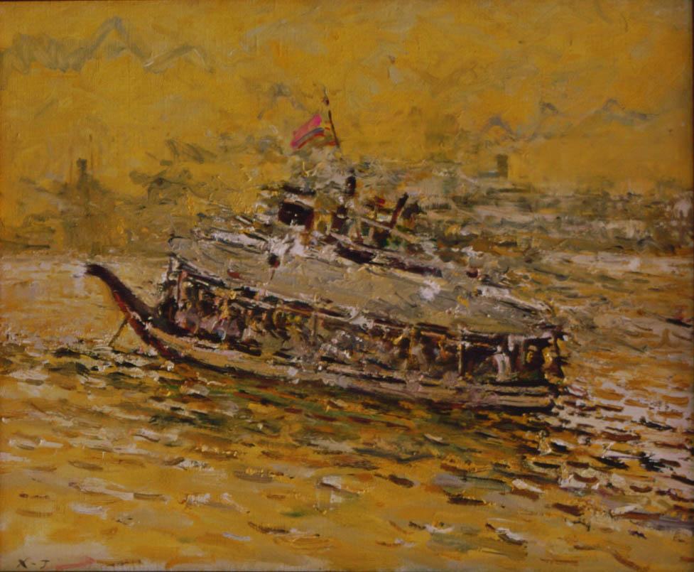 许江 历史的风景?船亚麻布 60×73cm亚麻布 60×73cm.jpg